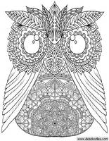Owl Colouring Page by WelshPixie