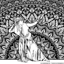 Mandala Lady 2 by WelshPixie