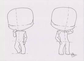 Chibi Manga Tutorial: Male Pose 02 by FutagoFude-2insROID
