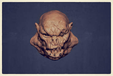 old ZBrush sketch ork 001 by dtran