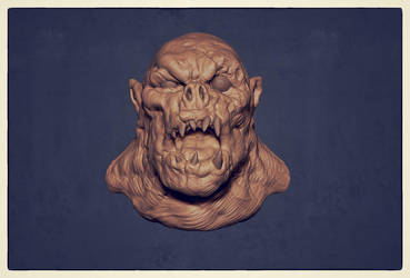old ZBrush sketch ork 002 by dtran