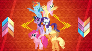 Mane 6 Welcoming Tower by Laszl