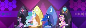 Princesses (4K Dual Monitor Wallpaper) by LaszlVFX