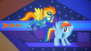Rainbow and Spitfire by Laszl