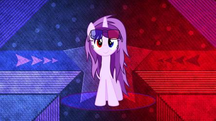 3D Pony Purple Eye by Laszl