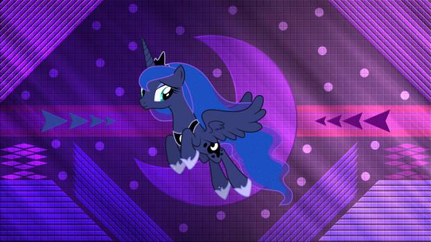 Luna Flying Off by Laszl