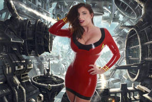 Yuffie Yulan in Star Trek Latex by CosplaybabesXXX