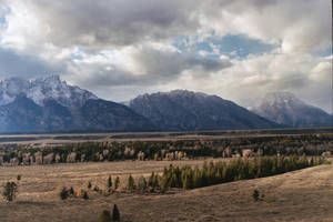 Grand Tetons in storm by Misfit0481