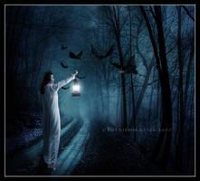 Alone She Wanders by EmberRoseArt
