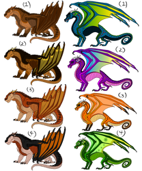 Mudwing and Rainwing Adopts (CLOSED) by ZombieKiller52