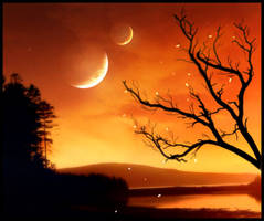 Orange Sky by digital-creature
