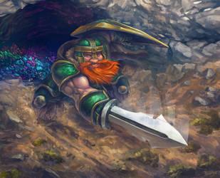 Dwarve Guardian of Mine by Peyeyo
