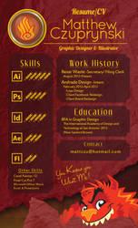 Graphic Design Resume by MattCzu