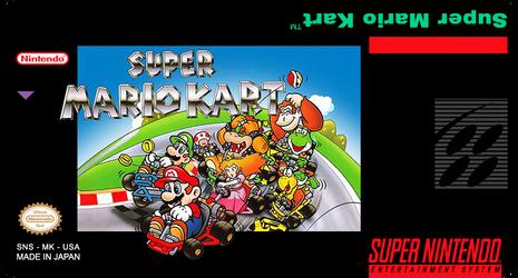 Label Super Mario kart snes by labelsnes