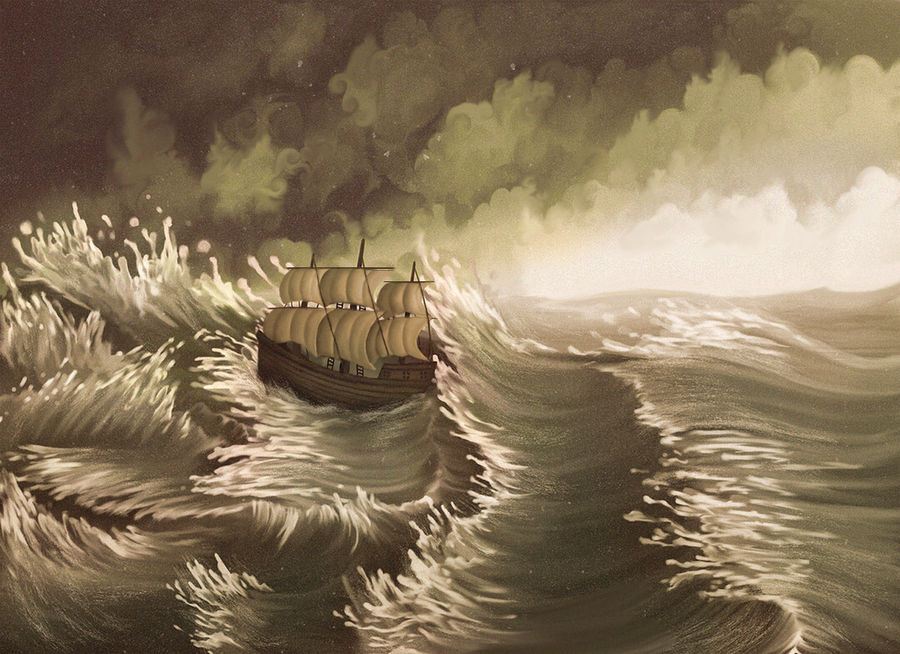 Jonah and the Whale - The Great Storm by Maheen-S