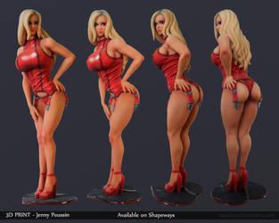 Jenny poussin 3D print by Texelion