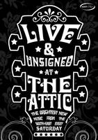 Live Music Unsigned Poster Two by squiffythewombat