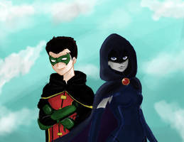 Raven and Damian by Wolfeternity