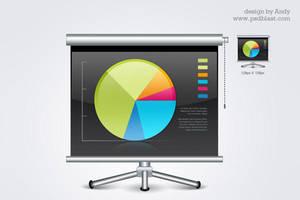 Business graph board by psdblast