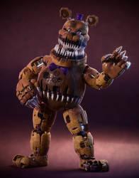Nightmare Fredbear! by SmashingRenders