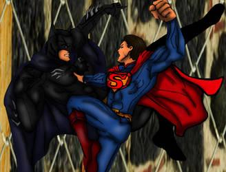 Injustice Batman vs superman by SamThePenetrator