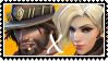 Overwatch straight stamp  McCree x Mercy by SamThePenetrator