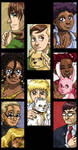 Stained Glass Cat People by ErinPtah