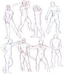 Figure drawings 12-3-16 -NSFW- by ErinPtah