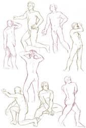 Figure drawings 1-7-17 -NSFW- by ErinPtah