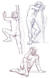 Figure drawings 5-10-17 -NSFW- by ErinPtah
