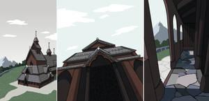 Stave Church Views by ErinPtah