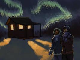 Wallpaper - Northern Lights by ErinPtah