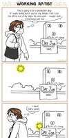 Webcomic Woes 17 - Stuff I drew on my lunch break by ErinPtah