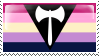 Lesbian Flag + Labrys Stamp - Base by ErinPtah