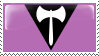 Lesbian Labrys Flag Stamp - Base by ErinPtah