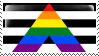 Straight Ally Flag Stamp - Base by ErinPtah