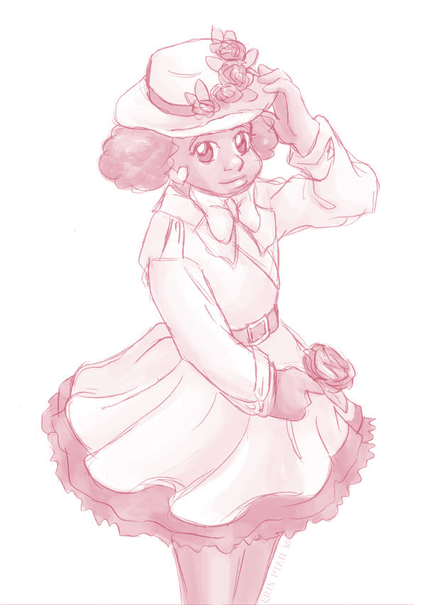 Flower Hat Bunny by ErinPtah