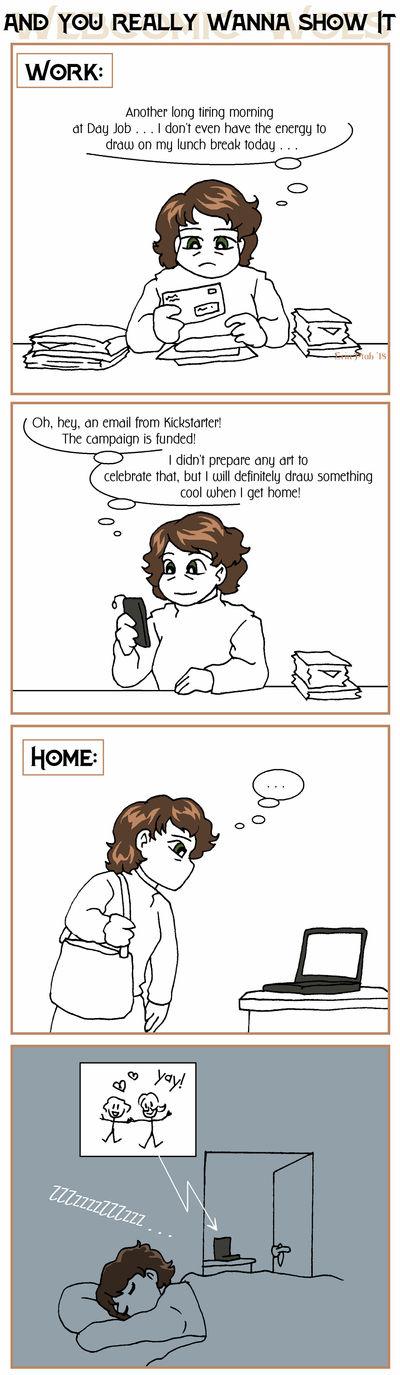 Webcomic Woes 23 - Shoulda drawn it ahead of time by ErinPtah