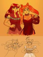 Halloween Ladies by ErinPtah