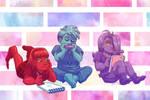 Kiddie Hue-mans by ErinPtah