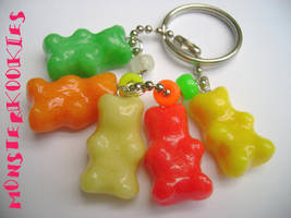 Five Yummy Gummybears by monsterkookies