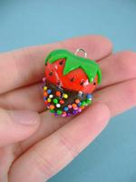 Rainbow Sprinkled Strawberry by monsterkookies