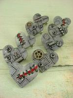 Flat Industrial Heart Pins by monsterkookies