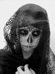 Sugar Skull Lady by monsterkookies