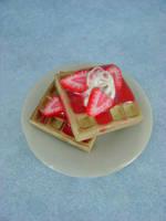 Mmmm Strawberry WAFFLES by monsterkookies