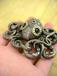 Mechanical Octopus No3 by monsterkookies