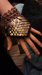 Scalemaille Gauntlet by monsterkookies