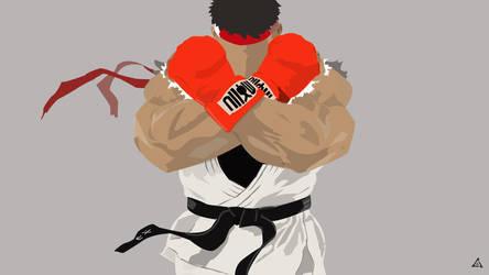 Ryu of Street Fighter V by azeruez