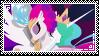 Princess Celestia x Queen Novo -Stamp- by S1NB0Y