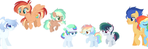 MLP NG FlashDash Family by S1NB0Y